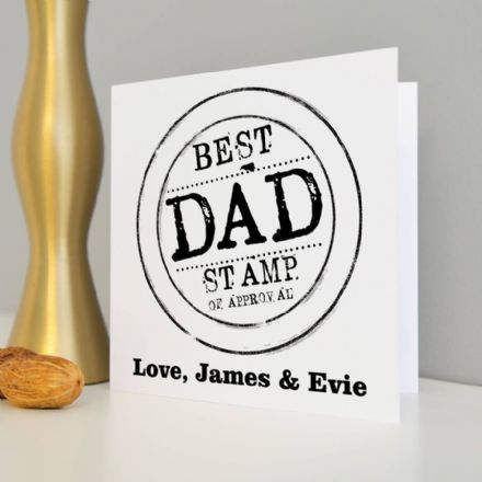 Personalised Best Dad Stamp Card
